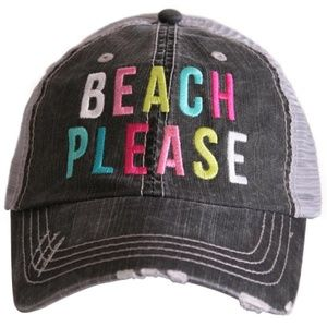 Beach Please Trucker Cap-**Price Firm**